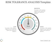 Risk Tolerance Analysis Template Ppt PowerPoint Presentation Background Designs