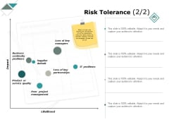 Risk Tolerance Business Continuity Ppt PowerPoint Presentation Ideas Master Slide