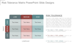 Risk Tolerance Matrix Powerpoint Slide Designs