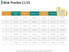 Risk Tracker High Level Ppt PowerPoint Presentation Show Icons