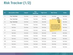 Risk Tracker Ppt PowerPoint Presentation Ideas Design Ideas