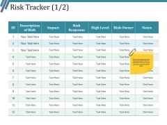 Risk Tracker Ppt PowerPoint Presentation Inspiration Slide Portrait