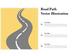Road Path Vector Illustration Ppt PowerPoint Presentation Summary Smartart PDF