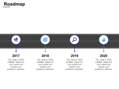 Roadmap 2017 To 2020 Ppt Powerpoint Presentation File Layout Ideas