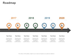 Roadmap 2017 To 2020 Ppt PowerPoint Presentation Gallery Example Introduction