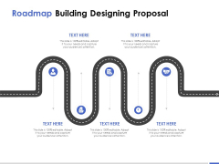 Roadmap Building Designing Proposal Ppt PowerPoint Presentation Infographics Background Designs