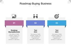 Roadmap Buying Business Ppt PowerPoint Presentation Infographic Template Objects Cpb