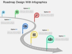 Roadmap Design With Infographics Powerpoint Templates