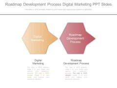 Roadmap Development Process Digital Marketing Ppt Slides