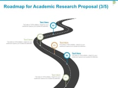 Roadmap For Academic Research Proposal Five Stage Ppt PowerPoint Presentation Styles Microsoft