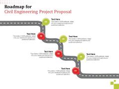Roadmap For Civil Engineering Project Proposal Ppt File Slide PDF