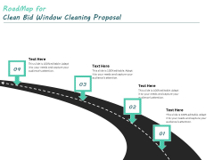 Roadmap For Clean Bid Window Cleaning Proposal Ppt Layouts Images PDF