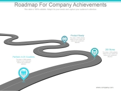 Roadmap For Company Achievements Ppt PowerPoint Presentation Tips