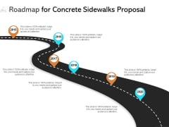 Roadmap For Concrete Sidewalks Proposal Ppt PowerPoint Presentation Design Templates