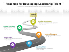 Roadmap For Developing Leadership Talent Ppt PowerPoint Presentation File Ideas PDF
