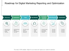 Roadmap For Digital Marketing Reporting And Optimization Ppt PowerPoint Presentation Outline Mockup
