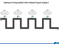 Roadmap For Driving Qualified Traffic To Website Proposal Template Four Flow Process Ppt Icon Grid PDF