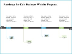 Roadmap For Edit Business Website Proposal Ppt Styles Pictures PDF