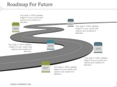 Roadmap For Future Ppt PowerPoint Presentation Background Images