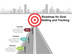 Roadmap For Goal Setting And Tracking Ppt PowerPoint Presentation Gallery Format Ideas