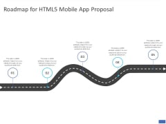Roadmap For HTML5 Mobile App Proposal Ppt PowerPoint Presentation Layouts Designs Download PDF