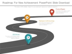 Roadmap For New Achievement Powerpoint Slide Download