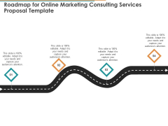 Roadmap For Online Marketing Consulting Services Proposal Template Ppt Icon Portfolio PDF