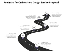Roadmap For Online Store Design Service Proposal Ppt PowerPoint Presentation Icon Graphics Template