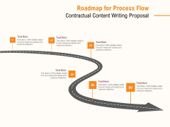 Roadmap For Process Flow Contractual Content Writing Proposal Ppt PowerPoint Presentation Infographics Background Image PDF