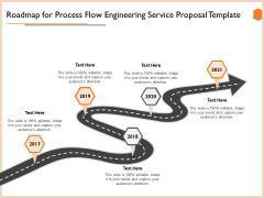 Roadmap For Process Flow Engineering Service Proposal Template Brochure PDF