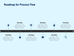 Roadmap For Process Flow Marketing Ppt PowerPoint Presentation Icon Examples