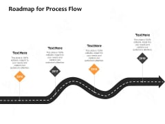 Roadmap For Process Flow Ppt PowerPoint Presentation File Clipart