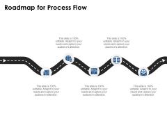 Roadmap For Process Flow Ppt PowerPoint Presentation File Design Templates