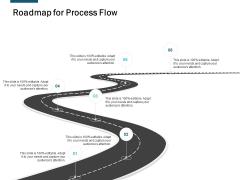 Roadmap For Process Flow Ppt Powerpoint Presentation Icon Portfolio