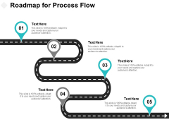 Roadmap For Process Flow Ppt PowerPoint Presentation Infographic Template Deck