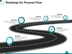 Roadmap For Process Flow Ppt PowerPoint Presentation Infographic Template Rules