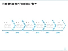 Roadmap For Process Flow Ppt PowerPoint Presentation Outline Template