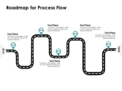 Roadmap For Process Flow Ppt Powerpoint Presentation Slides Graphics