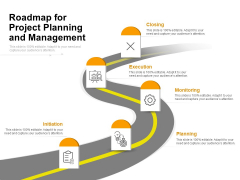 Roadmap For Project Planning And Management Ppt PowerPoint Presentation Icon Display PDF