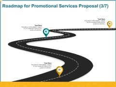 Roadmap For Promotional Services Proposal Three Stage Process Ppt Portfolio Layouts PDF
