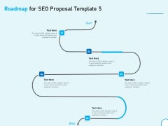 Roadmap For SEO Proposal 5 Step Process Ppt Summary Information PDF