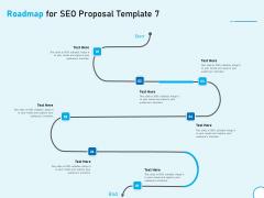Roadmap For SEO Proposal 7 Step Process Ppt Model Brochure PDF