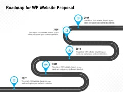 Roadmap For WP Website Proposal Ppt PowerPoint Presentation Show Example Topics