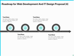 Roadmap For Web Development And IT Design Proposal Four Process Ppt PowerPoint Presentation Pictures Grid PDF
