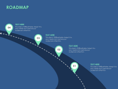 Roadmap Four Stage Ppt PowerPoint Presentation Icon Example
