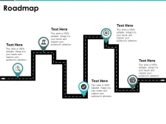 Roadmap Four Stage Ppt PowerPoint Presentation Professional Design Templates