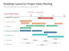 Roadmap Layout For Project Tasks Planning Ppt PowerPoint Presentation File Slideshow PDF