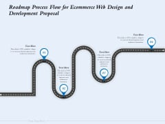 Roadmap Process Flow For Ecommerce Web Design And Development Proposal Ppt File Portrait PDF