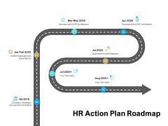 Roadmap Strategic Human Resource HR Action Plan Roadmap Ppt Ideas Infographic Template PDF