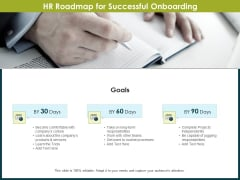 Roadmap Success People Analytics HR Roadmap For Successful Onboarding Ppt Gallery Aids PDF